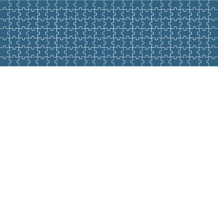 Puzzle background, banner, blank. Vector template. Background with puzzle frame, mosaic illustration. 向量圖像