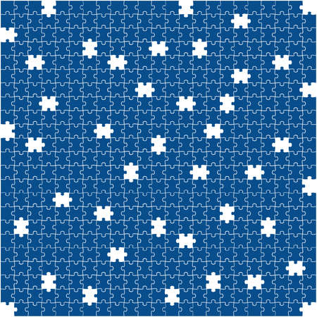 Puzzle background, banner, blank. Vector template. Background with puzzle frame, mosaic illustration. 版權商用圖片 - 167487193