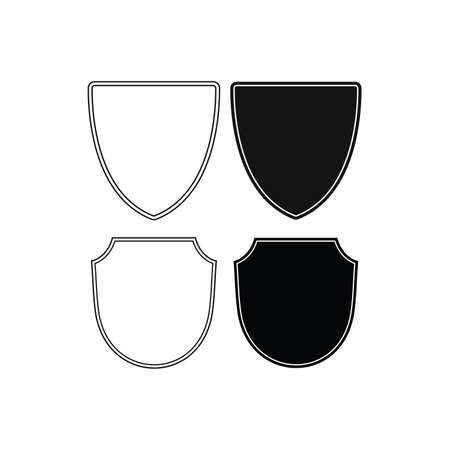 Shield icon vector template isolated.