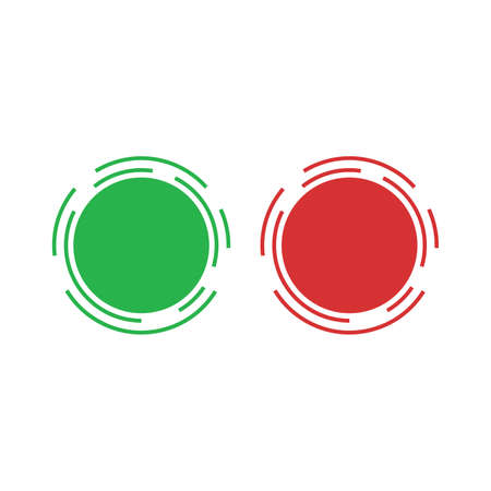 Green and red check mark icon vector design on white background trendy style Vector illustration