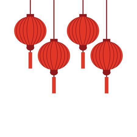 Chinese holiday lanterns illustration vector design on white background 版權商用圖片 - 168396522
