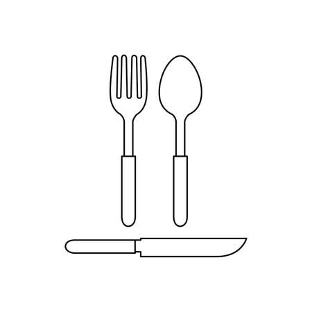 spoon and fork Icon Vector Illustration  Template on white background. 版權商用圖片 - 168396527