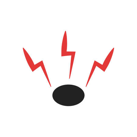 lightning vector icon on white background flat style Vector illustration