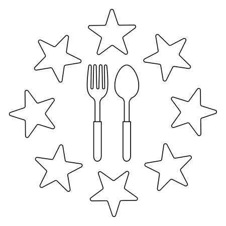 spoon and fork Icon Vector Illustration  Template on white background. 版權商用圖片 - 168396586