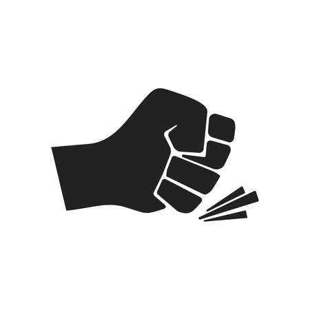 Bro fist bump or power flat vector icon for apps and websites. Vector illustration