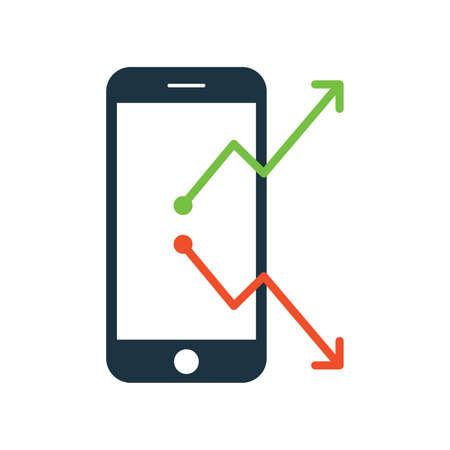 Flat Vector icon illustration of Marketing. Online Marketing research and Online marketing report icon. vector graphics. Vector illustration 版權商用圖片 - 168396602