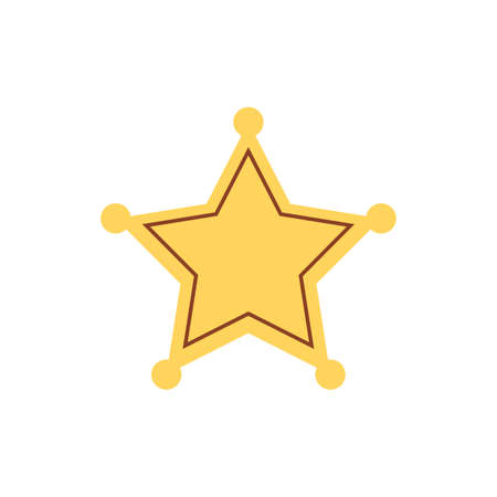 Blank star badge icon. Clipart image isolated on white background. Vector illustration