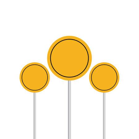 Warning sign vector illustration. Danger flat element for web design and mobile app. flat icon for design printed material. white background. Vector illustration