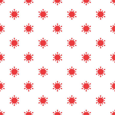 Viruses. Seamless pattern for textiles and packaging. Vector illustration