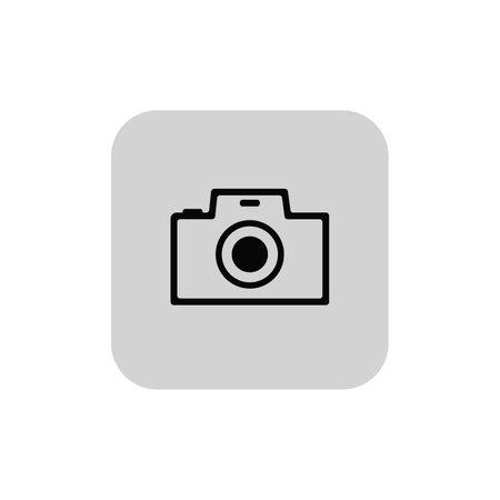 Photo camera flat icon logo, focus sign - vector. Vector illustration