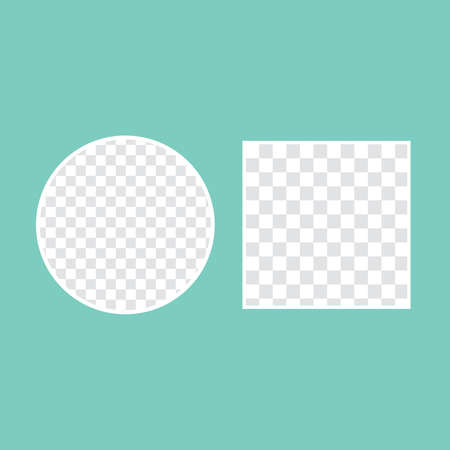 circular shaped hole on transparent background with frame for text. Vector illustration 向量圖像