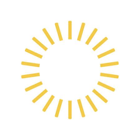 Flat sun icon. Sun pictogram. Trendy vector summer symbol for website design, web button. vector illustration.