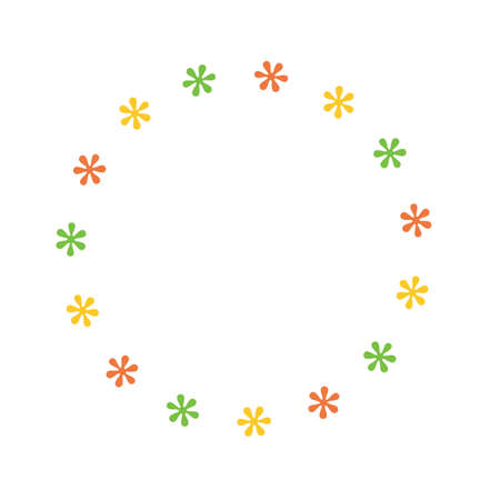 Pattern of leaves flower frame on white background, for invitation card decoration. Vector illustration