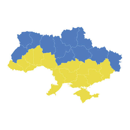 ukraine map High Detailed on white background. Abstract design vector illustration eps 10. 向量圖像