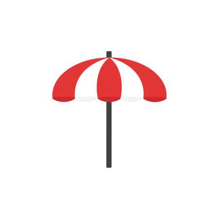 Beach umbrella color icon. Flat design for web and mobile