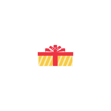 Gift Box Icon Vector in Trendy Flat Style. Present Package Illustration