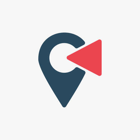 Location icon set. Set of map pointers on white background 向量圖像