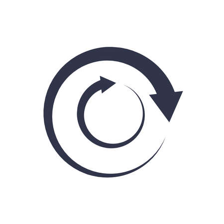 Arrow circle simple vector icon. EPS 10 on white flat style