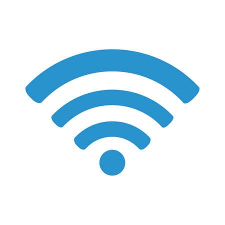 blue WIFI symbol isolated on white background. vector illustration 向量圖像