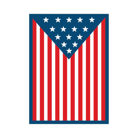 Vector vertical american flag. Flag of USA 向量圖像
