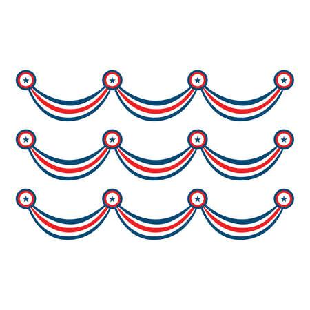 USA digital design, vector illustration  black and color version