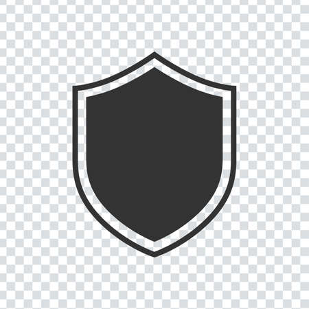 Shield Icon for Graphic Design Projects black color on transporter background. Vector illustration 向量圖像
