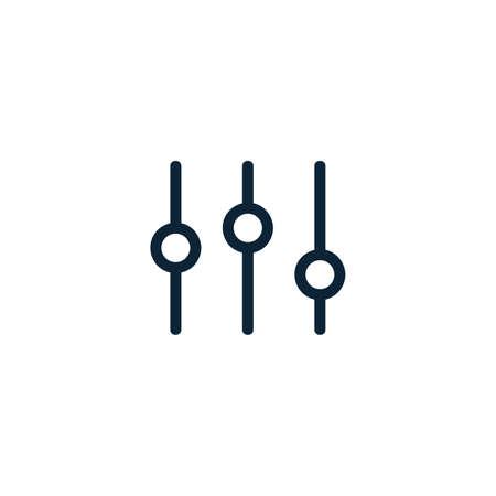 Equalizer icon. Music sound wave symbol. Vector illustration on white background