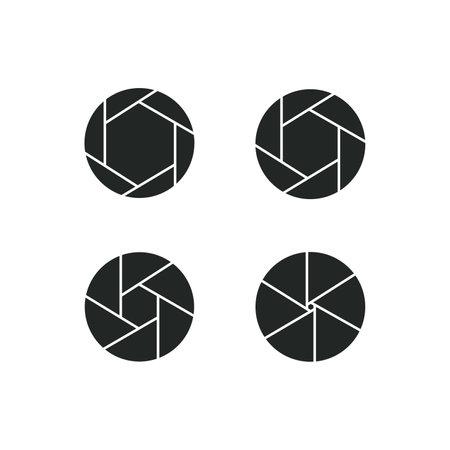 camera-lens icon set. isolated sign symbol. Vector illustration on white background