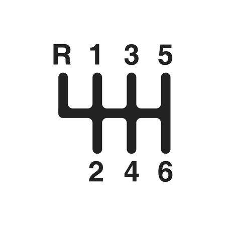 Transmission vector icon, car symbol. Modern, simple flat vector illustration for web site or mobile app