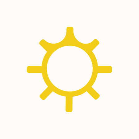 The Sun, thin lines web and social media icon Ilustracja