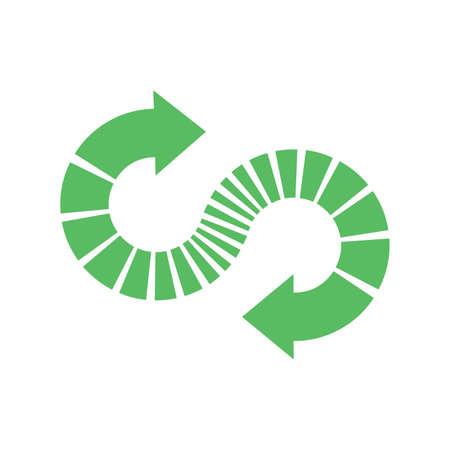 Recycle symbol on white background infinity logo Ilustracja