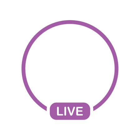 live streaming illustration. Online webinar, lesson, course. Vector on white background flat style. Ilustracja