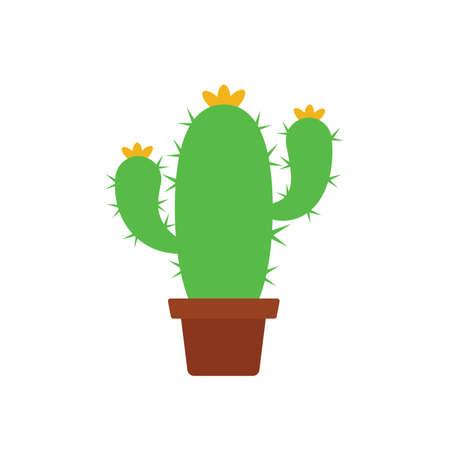 cactus vector illustration, flat style, isolated on white background Ilustracja