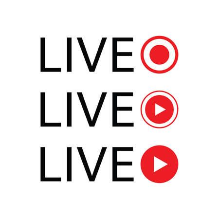 live streaming illustration. Online webinar, lesson, course. Vector on white background flat style