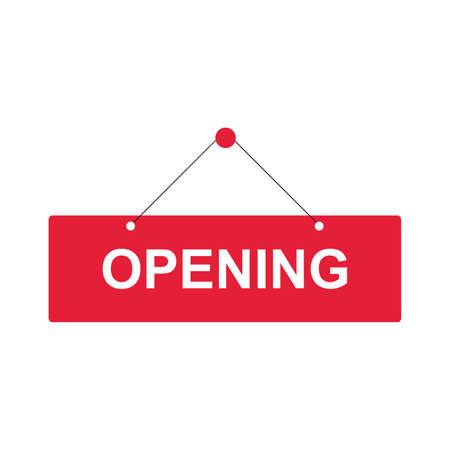 opening sign square, banner sticker open vector eps. Vector illustration Ilustracja