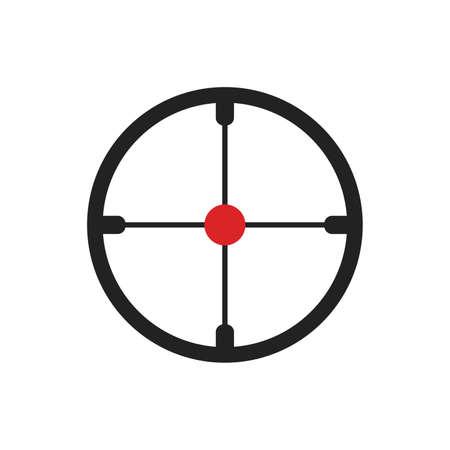 Aiming Target Icon Vector Logo Template Illustration Design. Vector illustration