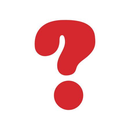 Question mark sign icon. Help symbol. FAQ sign. Flat design style. Vector illustration Ilustracja