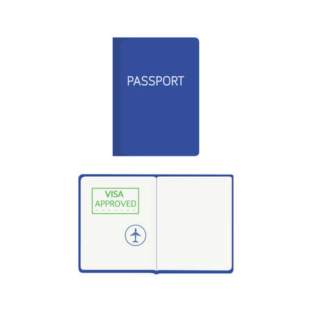 travel passport icon flight vector boarding airplane illustration airline sign. Vector illustration Ilustracja