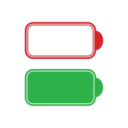 Empty and full Battery Vector Icon Illustration. Vector illustration