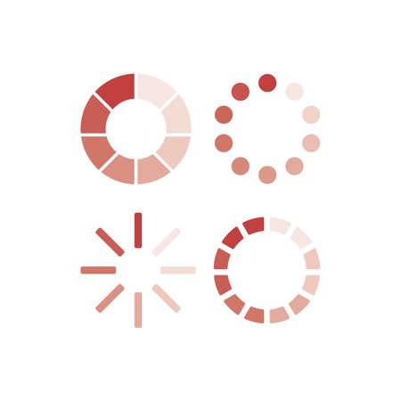 Set of vector Loading icons. Circle progress bar. Load icon for app ui website. Vector illustration Ilustracja