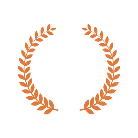 Golden Laurel wreath. Round frame for invitations, greeting cards, quotes, logos, posters and more. Isolated vector illustration. Ilustracja