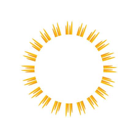 Sunburst frame. Retro Sun burst shape. Old light rays radiating from a center starburst. Vector illustration