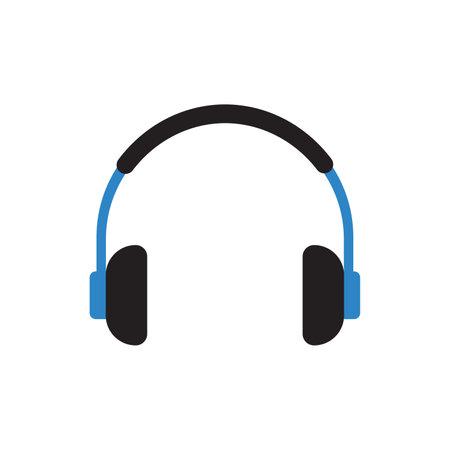 headphone icon vector flat design best vector icon