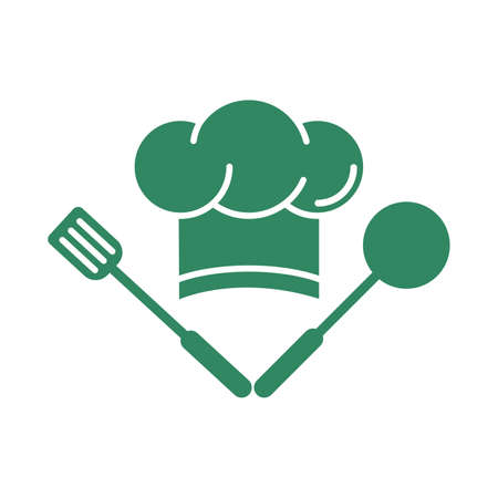 Illustration of a chef hat, on a white background.