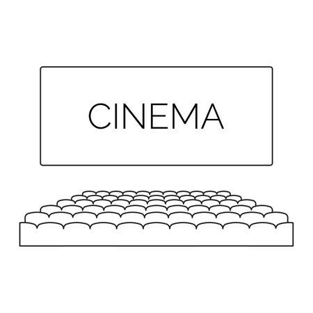 cinema icon vector. Symbol for your web site