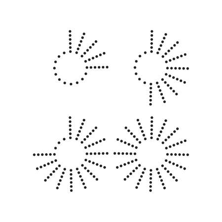 Halftone dots in circle form. vector dotted frame . design element Ilustracja