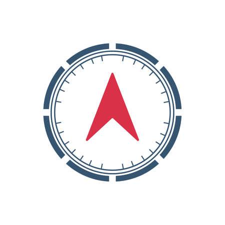 Compass wind rose icon vector logo design template