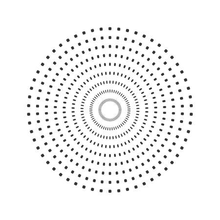 Vector dotted background on white sun rays