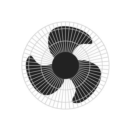 black metallic ventilator isolated over white background Ilustracja