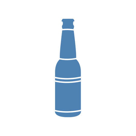 Bottle icon. Vintage vector flat illustration. Isolated on white background. For, web, info graphic. Vector Иллюстрация